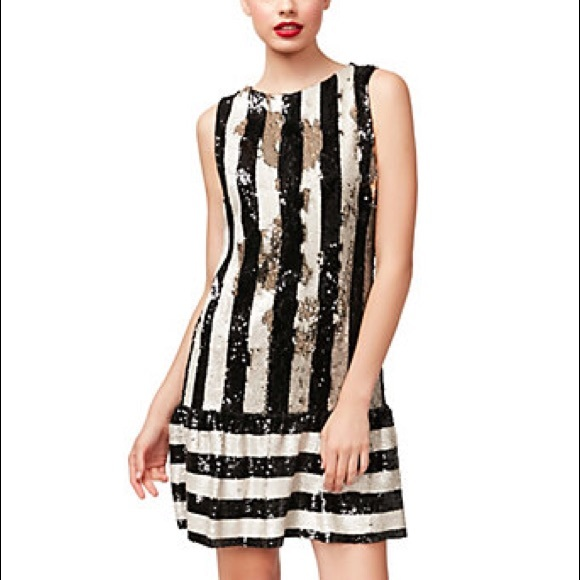 Betsey Johnson Womens Sequin Striped Dress Pick SZ//Color.